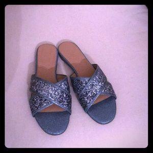 J Crew  Glitter Sandals